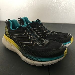 Hoka Men's Blue One One Clifton 4 Shoes